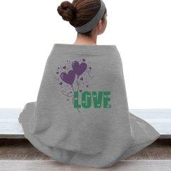 LOVE Fleece Stadium Blanket