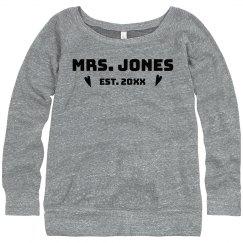 Custom Est. Mrs. Sweatshirt