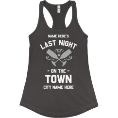Last Night Out Bachelorette Custom City