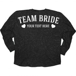 Custom Team Bride Glitter Jersey