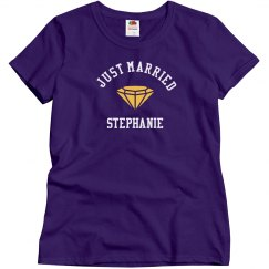 Just Married Tank Top with Diamond Ring