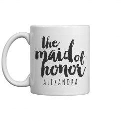 Custom Maid of Honor Bridal Mug