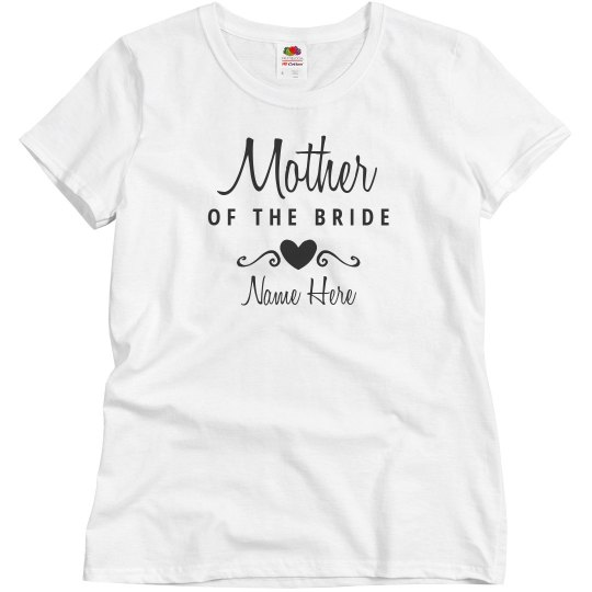 f43258f14 Mother Of The Bride Tee Ladies Relaxed Fit Basic Promo T-Shirt