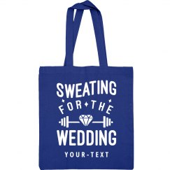 Sweating for the Wedding Gym Bag