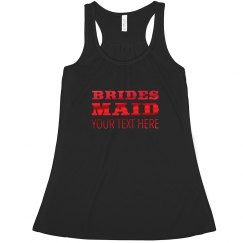 Red Metallic Brides Maid