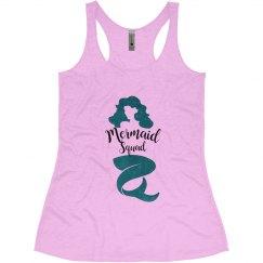 Mermaid Squad Bachelorette Tank Tops, Mermaid Tribe