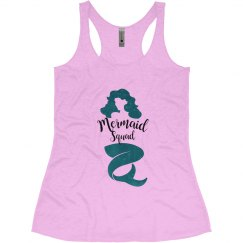 Mermaid Squad Bachelorette Tank Tops, Mermaid Tribe
