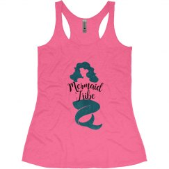 Mermaid Tribe Bachelorette Tank Tops, Mermaid theme