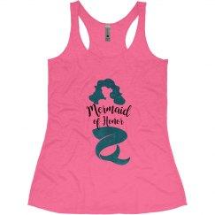 Mermaid of Honor Bachelorette Tank Top, mermaid theme