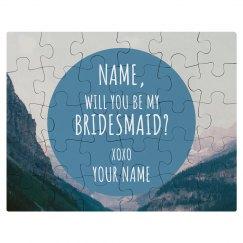 Custom Bridesmaid Invite Puzzle