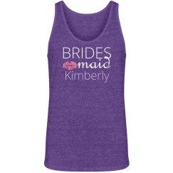 Bridesmaid Kiss With Name