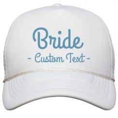 Bride Custom Bachelorette Hat