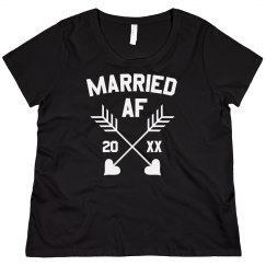 Married AF Custom Plus Tee