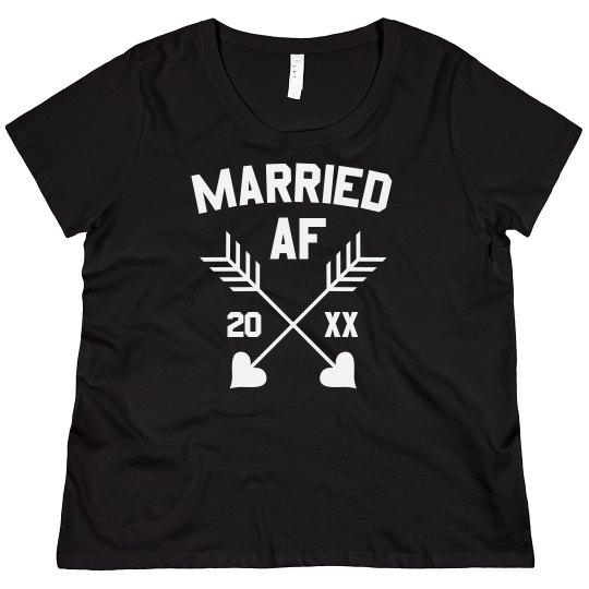 0b223547c65 Married AF Custom Plus Tee Ladies Plus Size Scoopneck Basic T-Shirt