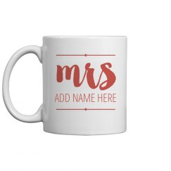 Custom Mrs. Name gift