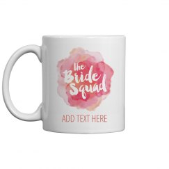 Custom Watercolor Bride Squad Gift