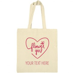 Heart Flower Girl Tote