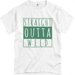 Mens Straight Outta Weed T-shirt