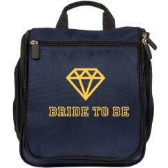 Bride to Be Makeup Bag