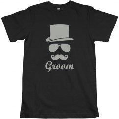 Groom Mustache Hat Shirt