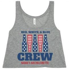 Red, White, Blue Patriotic Crew