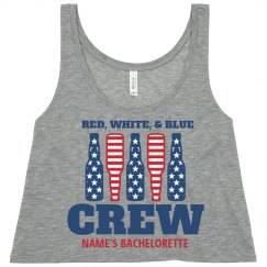 Red, White, Blue Patriotic Crew