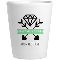 Maid Of Honor Diamond Shot Glass