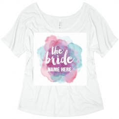 Trendy Watercolor Bride