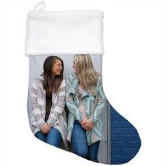 Custom Photo Print Holiday Stocking