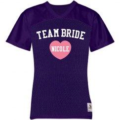 Team Bride Heart Jersey