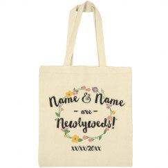 Custom Floral Names Newlyweds