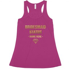 Custom Bridesmaid Gold Metallic Bridal Party Outfit