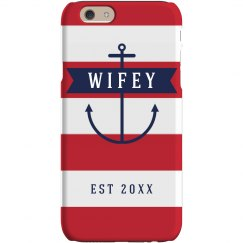 Wifey Anchor Mrs Bride Case