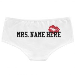 Mrs. Custom Name Lips