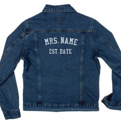 Custom Distressed Mrs Wedding Date