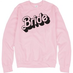 Bride Parody Sweatshirt in a 3D Font
