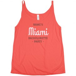 Custom Miami Bachelorette Party