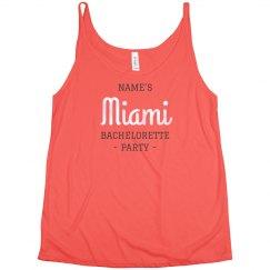 Custom Miami Bachelorette Party