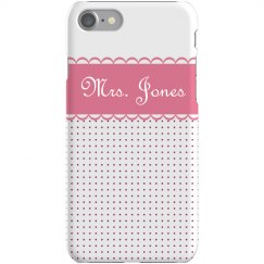 Scalloped Dot iPhone Case