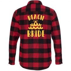 Beach Bride Flannel Shirt