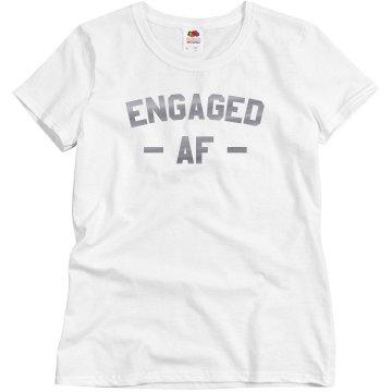 Engaged AF Rose Gold Tee