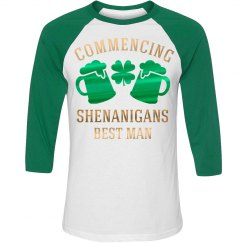 Metallic Irish Best Man Raglan