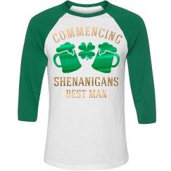 Metallic Irish Best Man Raglan