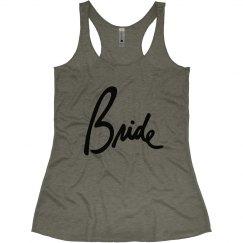 Bride tank top, Script Font, Bridal or Bachelorette top