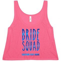 Blue Metallic Bride Squad