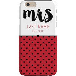 Newlywed Mrs Custom Phone Case