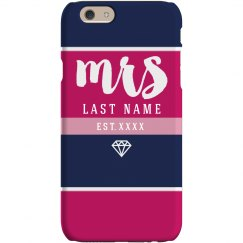 Custom Mrs Last Name Phone Case