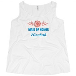 Curvy Plus Size Maid of Honor Tank Top