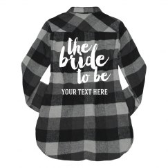 Blue Plaid Bride To Be Script