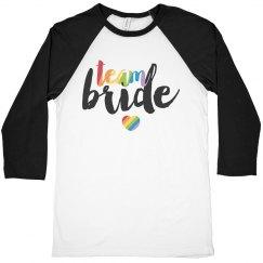 Rainbow Team Bride